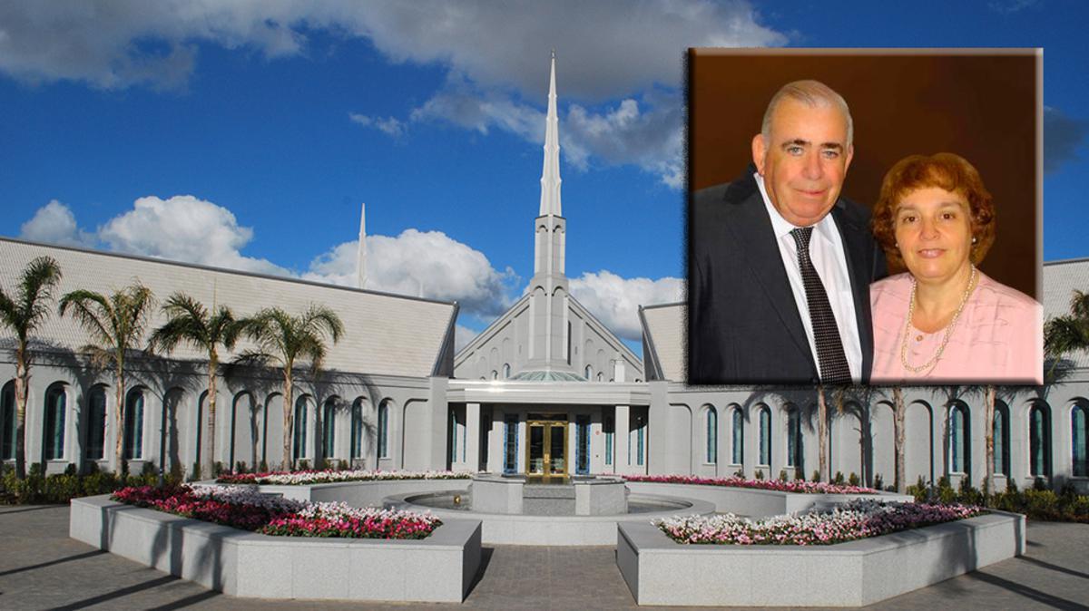Emilio Carlos Canga presidente del templo de Buenos Aires
