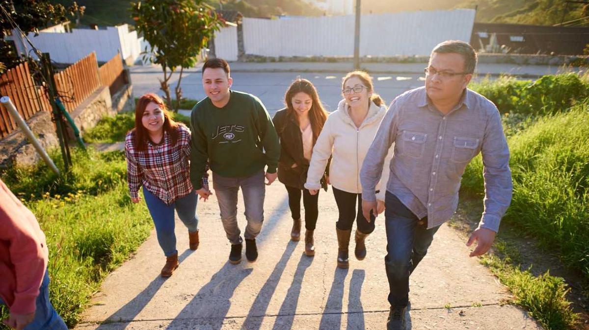 Vamos a poder vivir con nuestra familia para siempre.