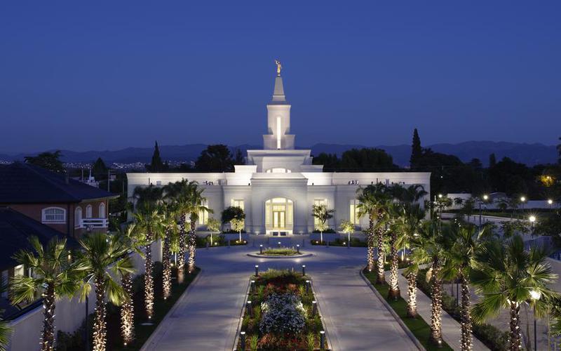 Vista nocturna Templo de Cordoba