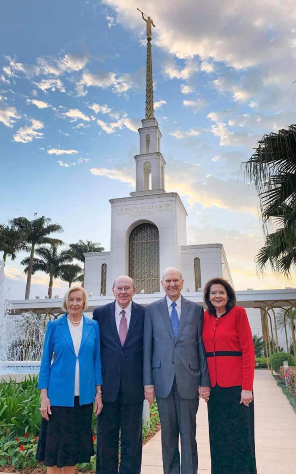Presidente Nelson visitou o templo de São Paulo
