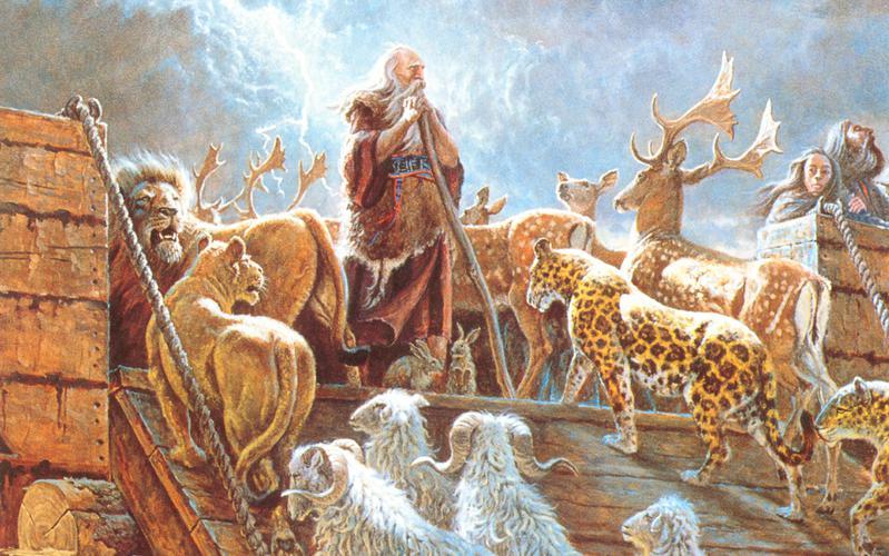 103: Ной и ковчег с животными