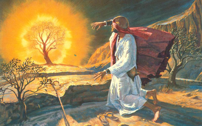 107: Моисей у горящего куста