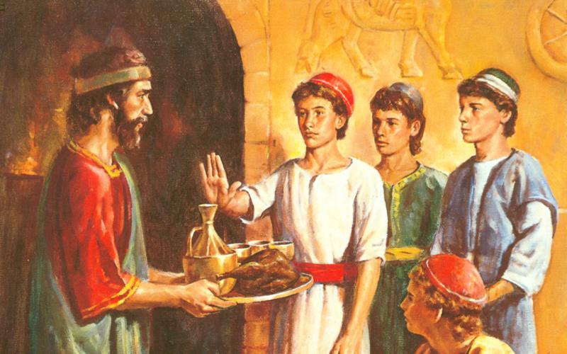114: Даниил отвергает пищу и вино царя