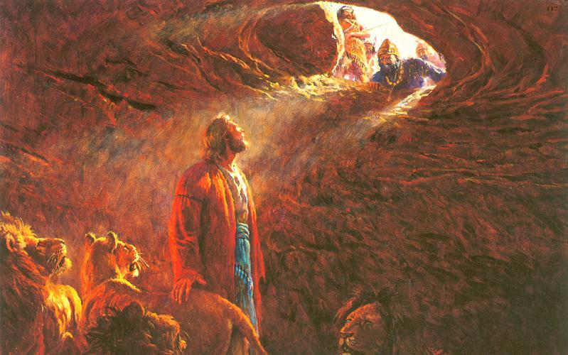 117: Даниил во рву со львами
