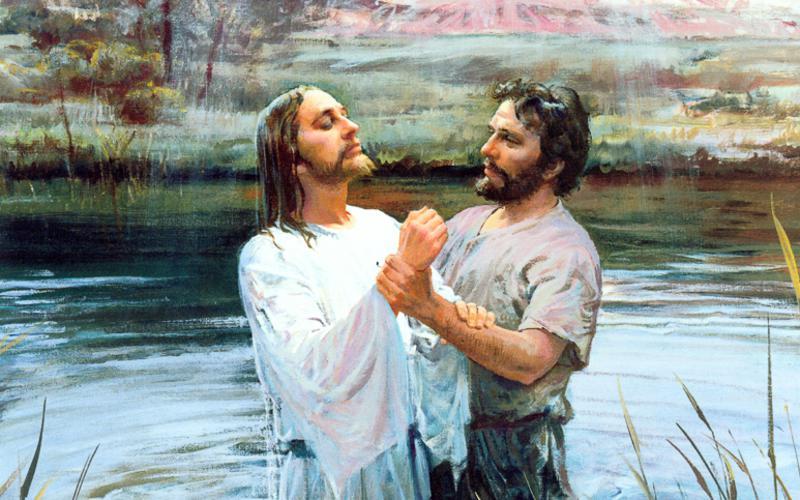 208: Иоанн Креститель крестит Иисуса