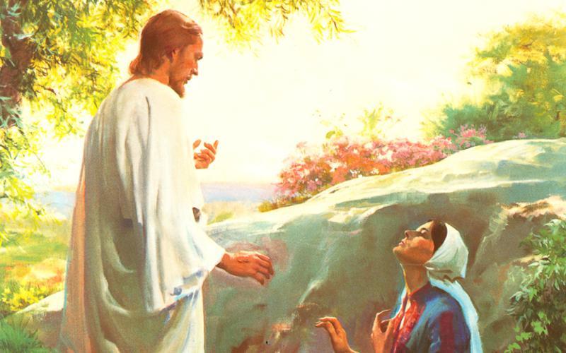 Мария ии воскресший Господь