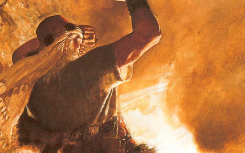 318: Брат Иареда видит перст Господень