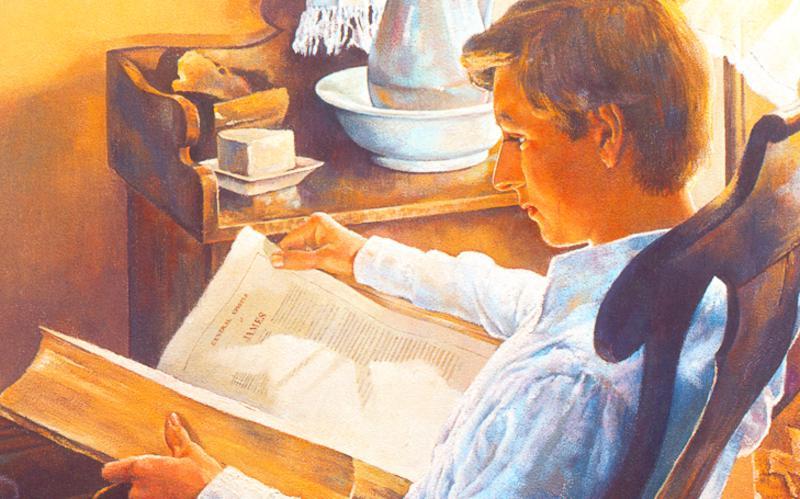 402: Иосиф Смит ищет мудрости в Библии