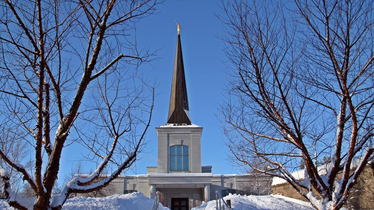Helsinki tempel talvel
