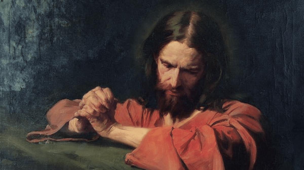 Christ Praying in the Garden of Gethsemane [Kristus berdoa di Taman Getsemani], oleh Hermann Clementz