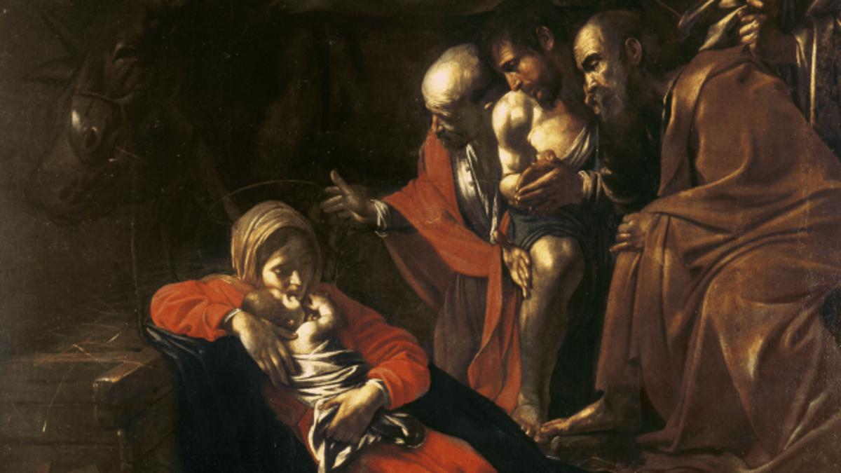 Adoration of the Shepherds [Pemujaan oleh para Gembala],oleh Michelangelo Merisi da Caravaggio, Bridgeman Images