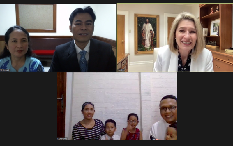 Sister Jean B. Bingham and Sister Camille N. Johnson's virtual ministry in Asia