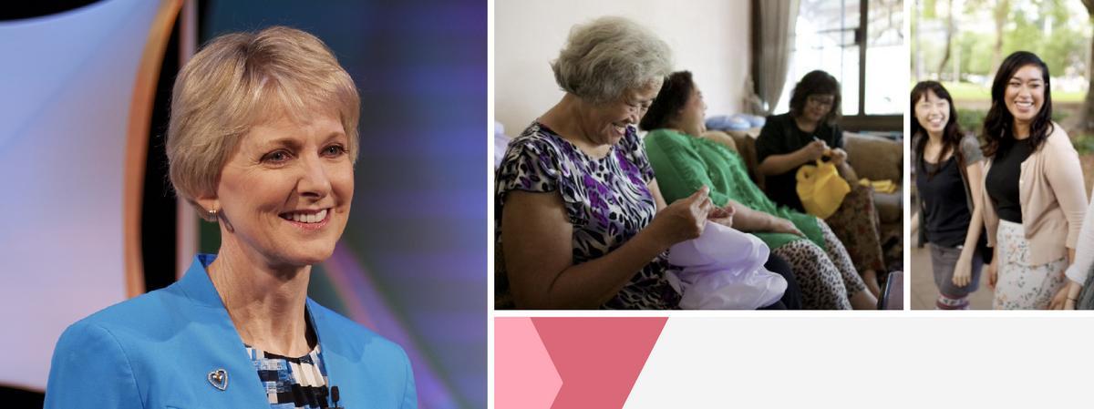 Relief Society Devotional with Sister Jean B. Bingham 慈助会祈祷会 - 琴恩·宾翰姊妹