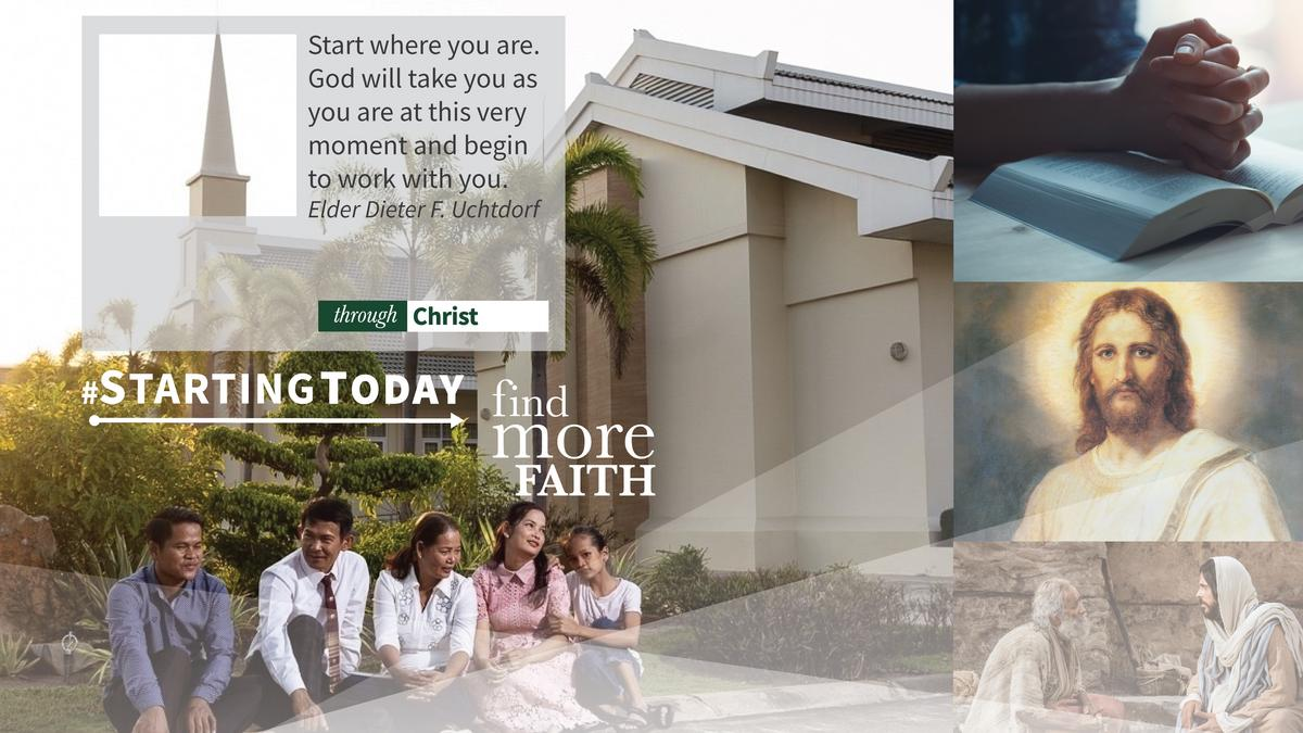#StartingToday, Find More Through Christ poster