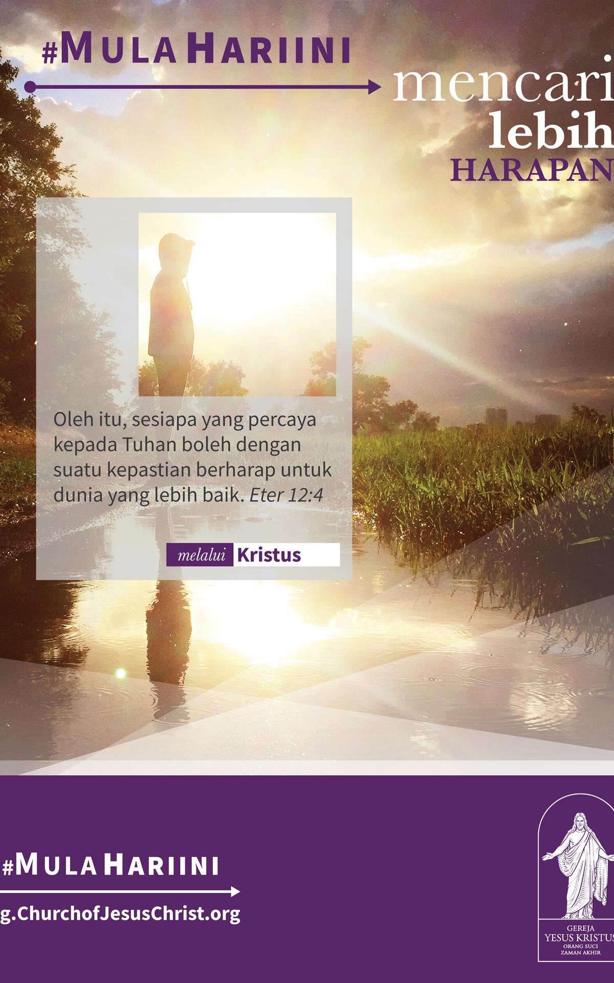 #StartingToday Find More Through Christ poster