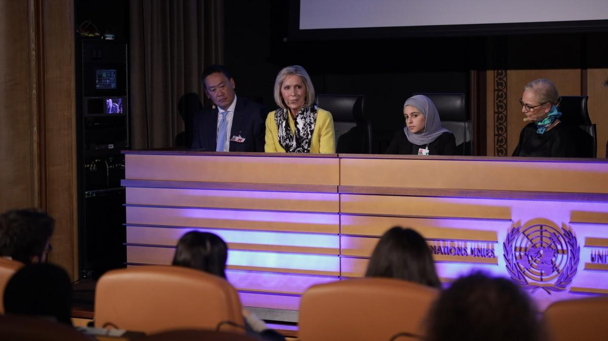Sister Joy D. Jones, Primary general president of The Church of Jesus Christ of Latter-day Saints, was part of a panel discussion at a UNICEF-sponsored event at the United Nations in Geneva on December 5, 2019.