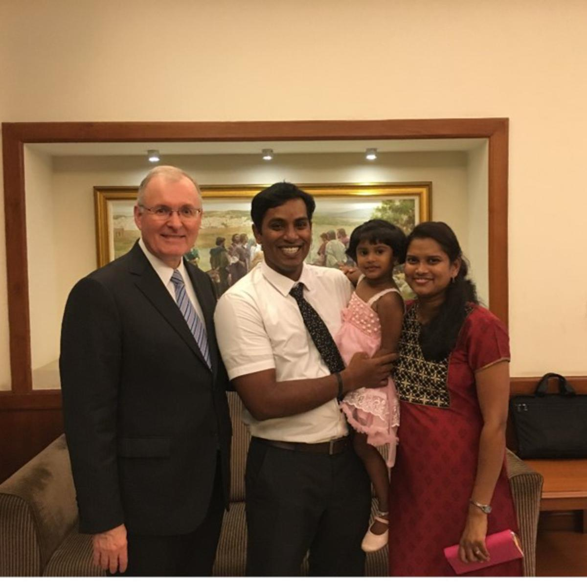 Elder Funk is grateful to see his former missionaries from India now sealed in the temple and raising their children in the gospel.