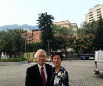 中國香港聖殿李福孫會長夫婦