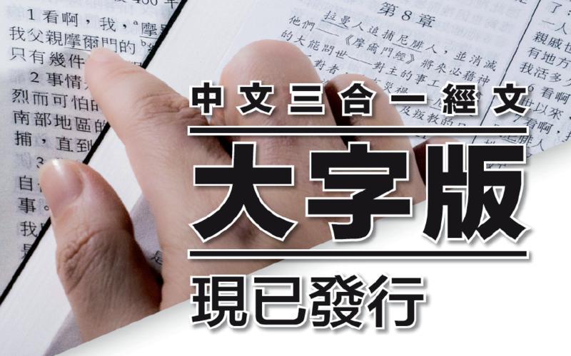 中文三合一經文大字版