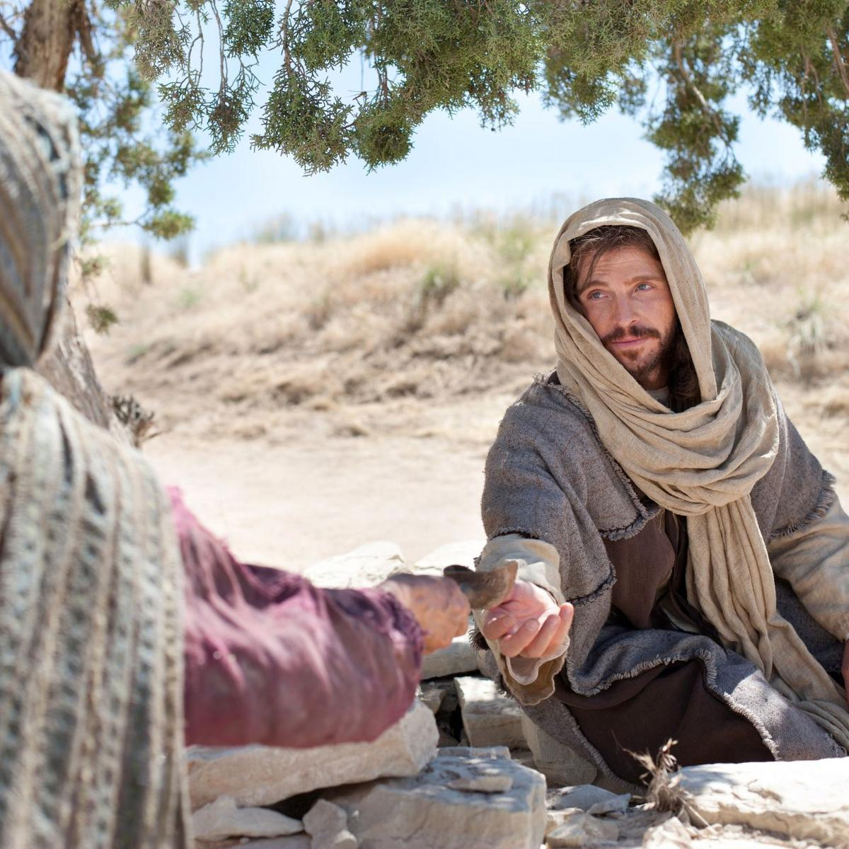 Woman Offers Water to Christ