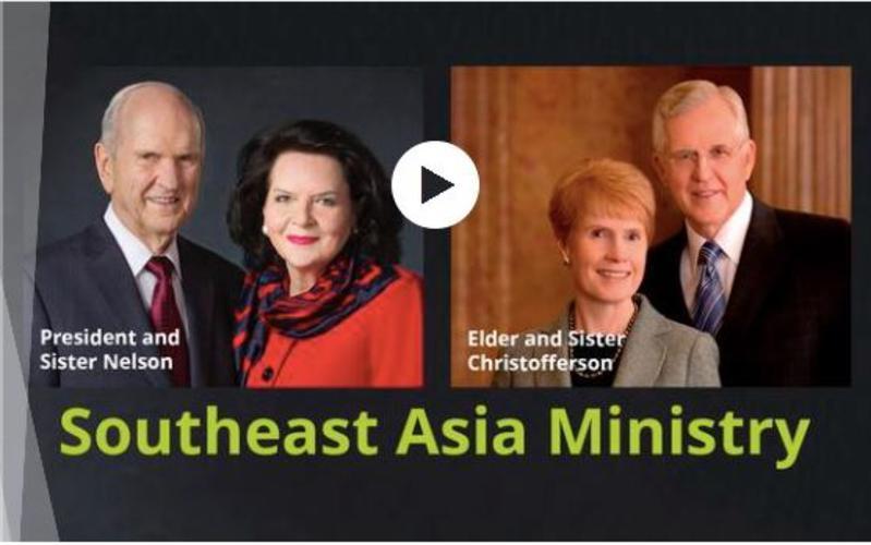 Penatua dan Sister Christofferson melakukan perjalanan bersama nabi ke empat negara