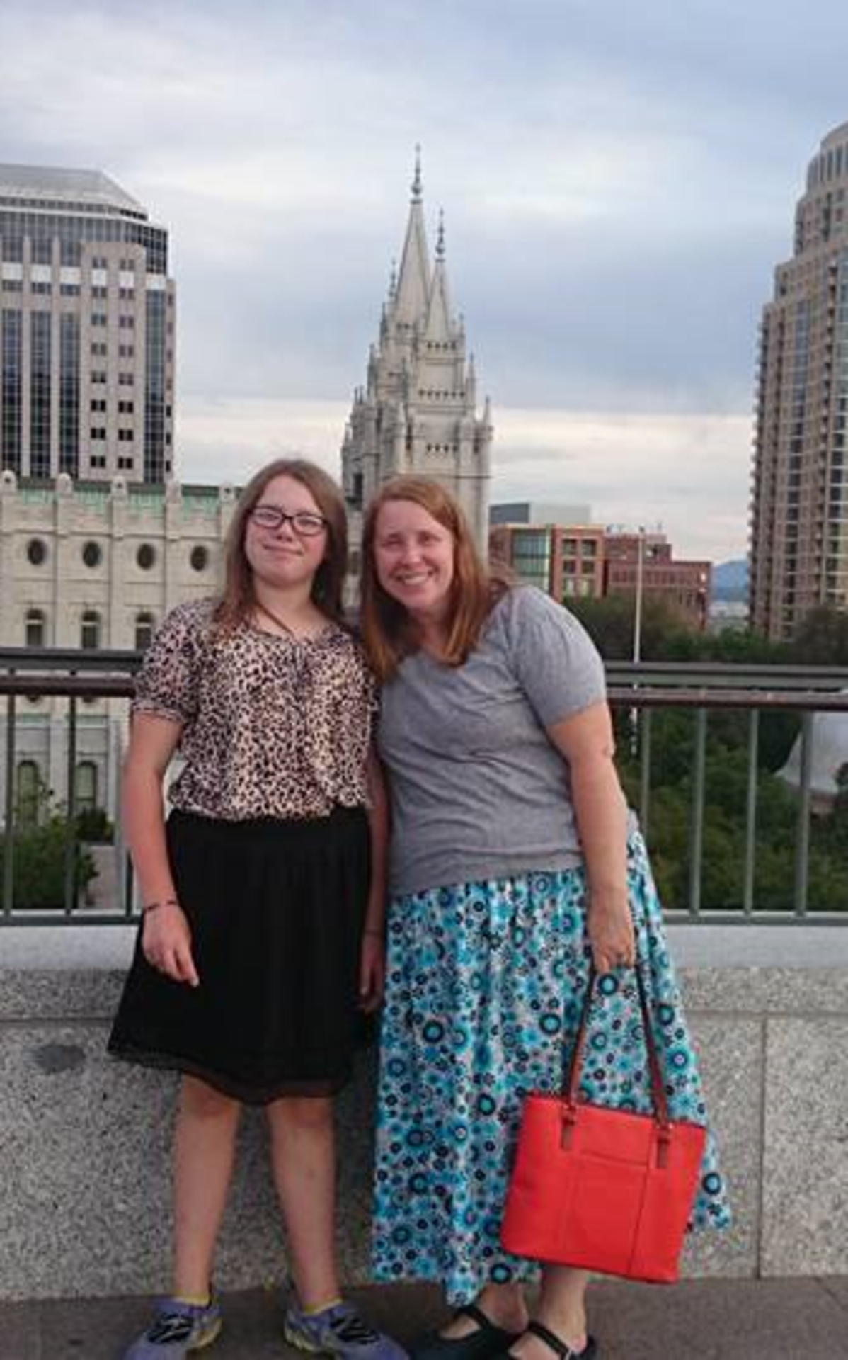 Constance and Karen McWiggans at Salt Lake City Temple.png