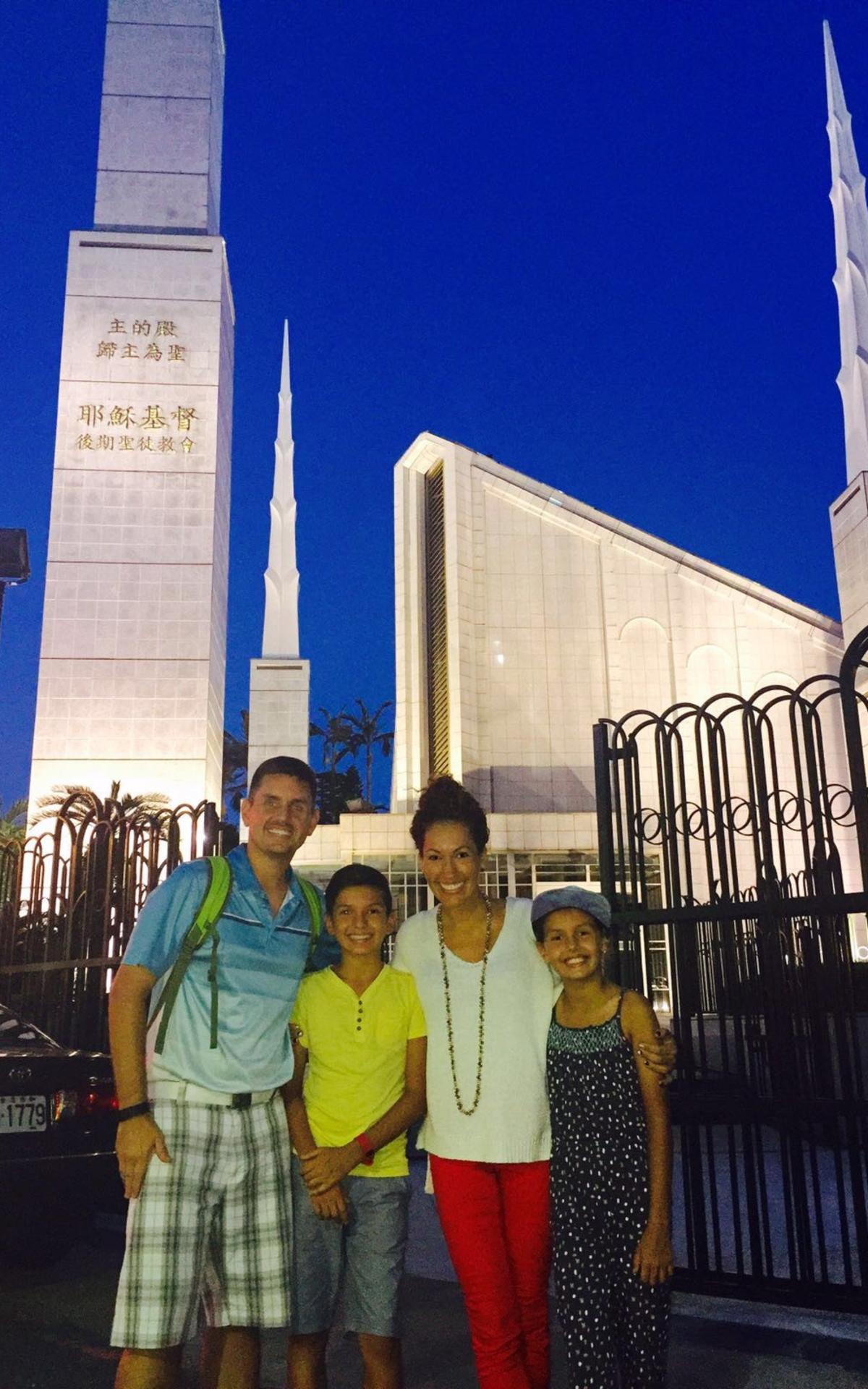 Sarka Family at Tokyo Japan Temple.png
