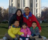 Lau family in Salt Lake City