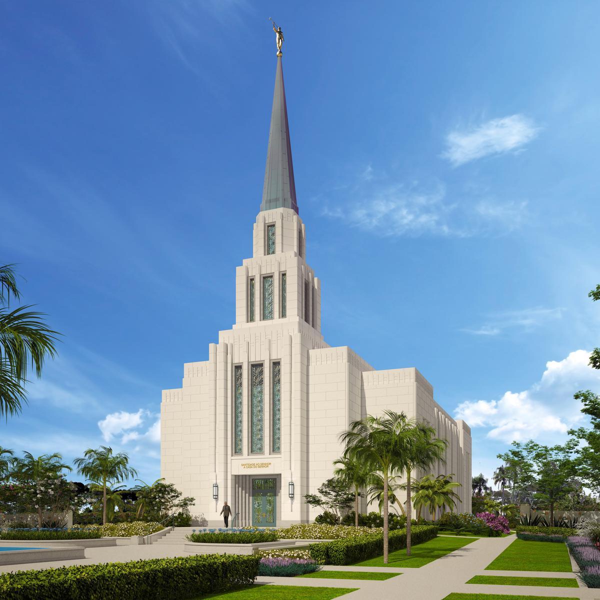 Perspectiva do templo mormon no Rio de Janeiro