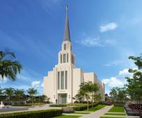 Templo de A Igreja de Jesus Cristo, tambem conhecido como templo mormon, na cidade de Rio de Janeiro, Brasil