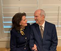 Президент Ръсел М. Нелсън и неговата съпруга Уенди