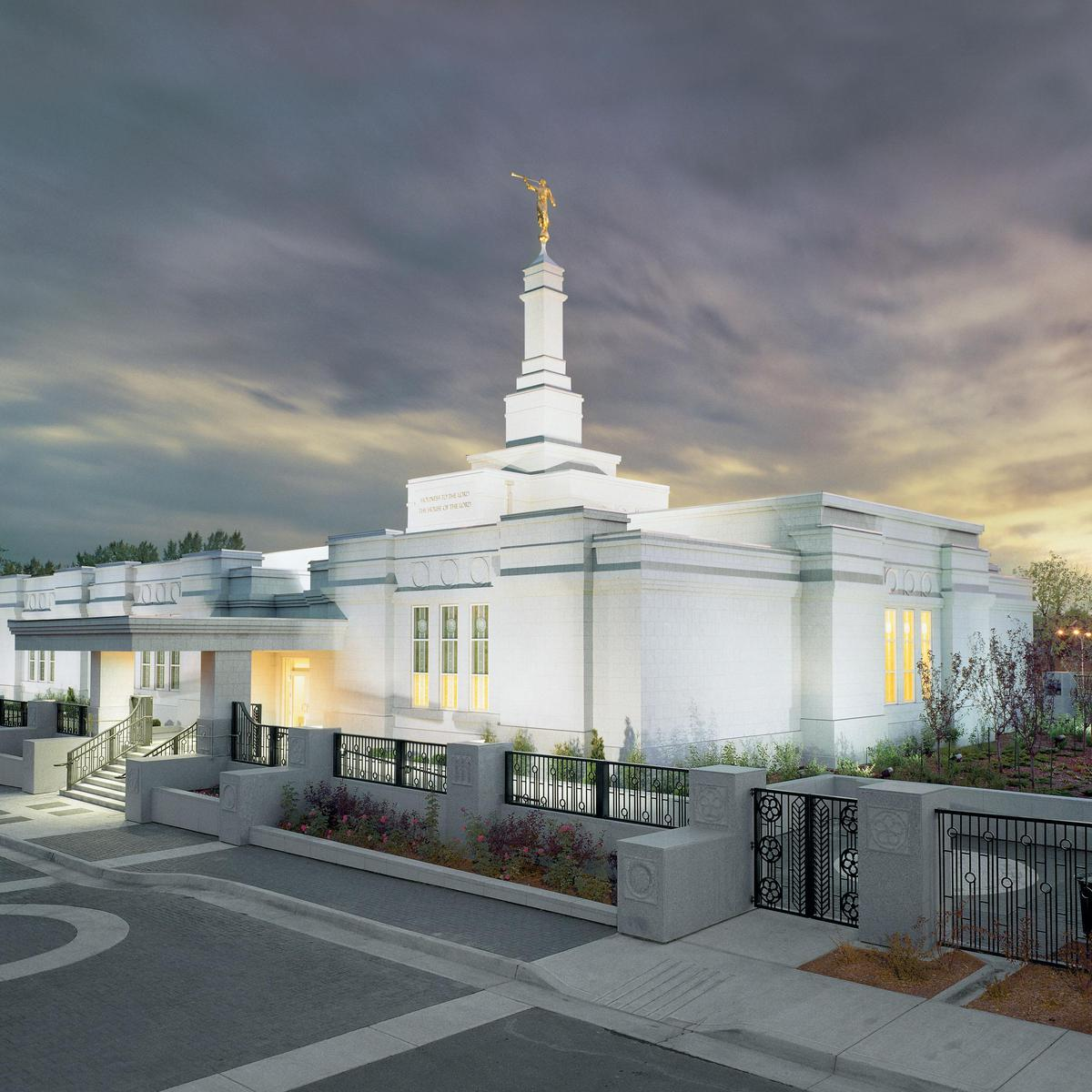 Image of the Edmonton Alberta Mormon Temple in Canada