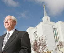 Elder William R. Walker in front of the Temple