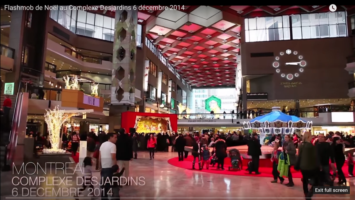 Montreal Mormons Gather in a Flash Mob to Celebrate Christmas