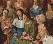 Joseph Smith Speaking to the Relief Society