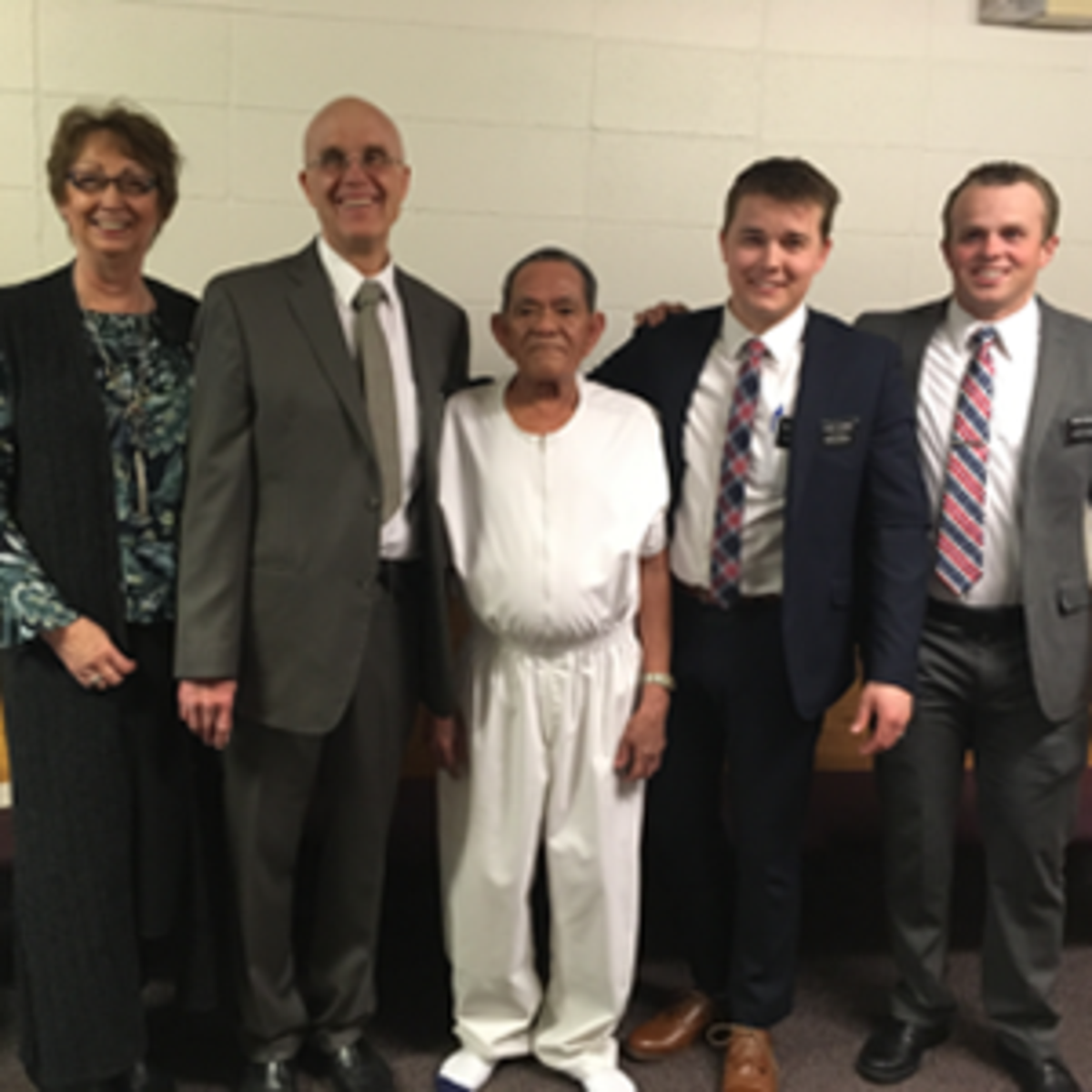Rolly with the missionaries of the Church of Jesus Christ of Latter-day Saints