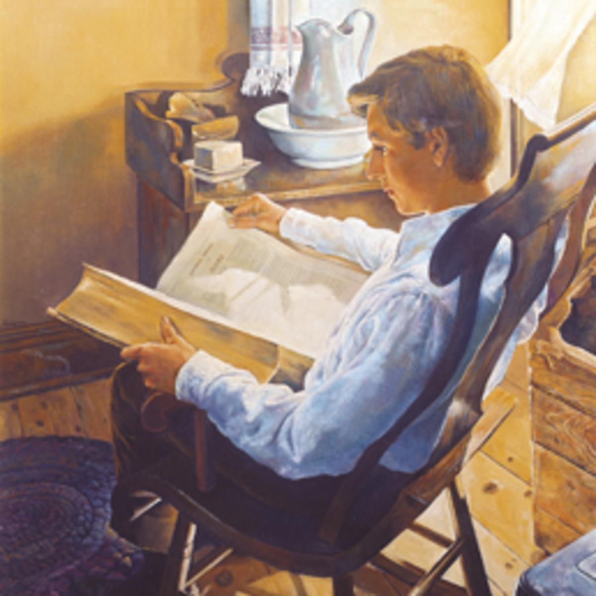 Joseph Smith reading the Bible