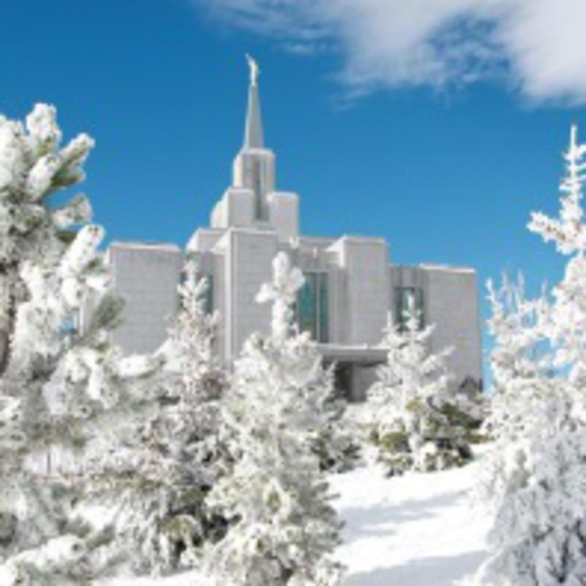 temple in snow