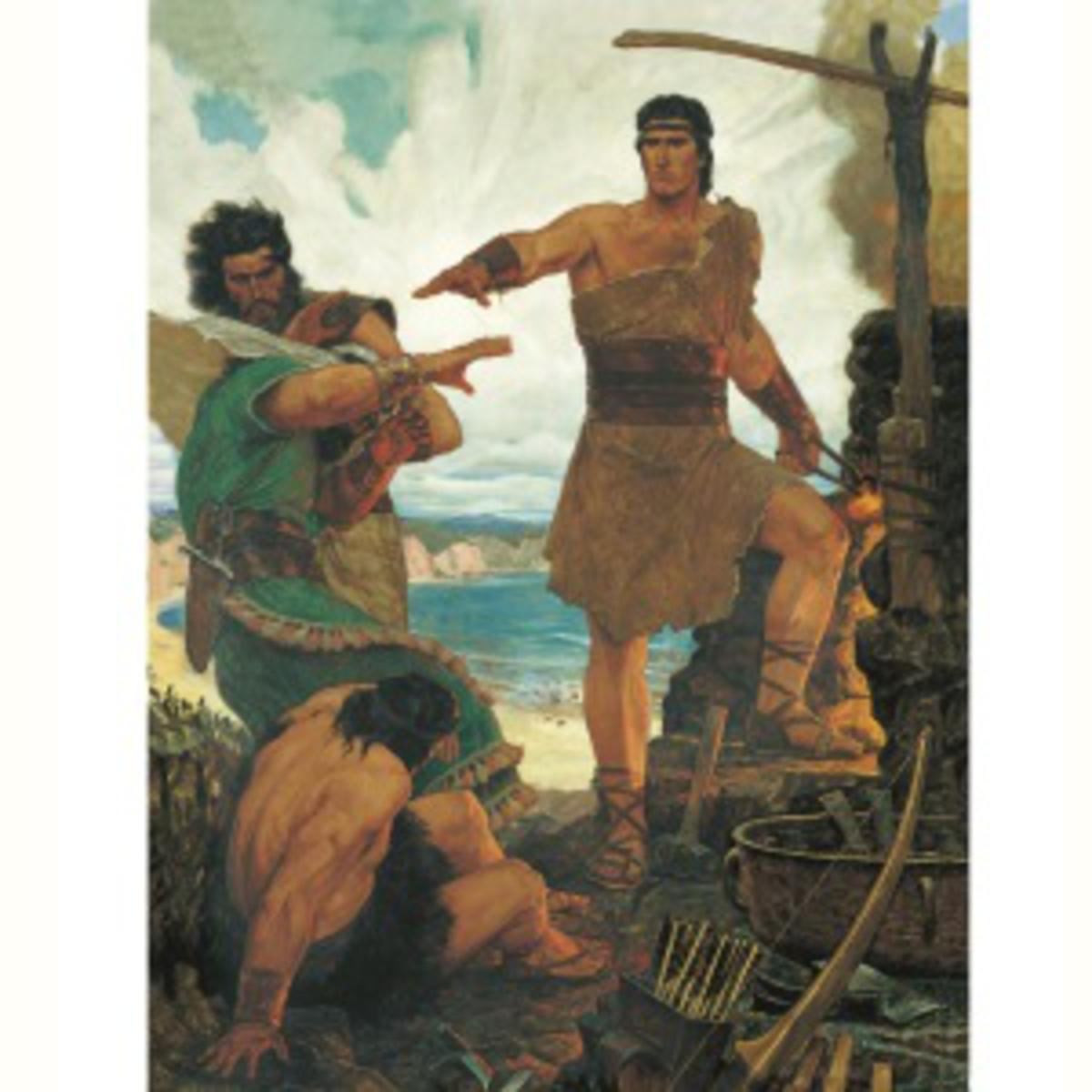 Nephi subdues his brothers