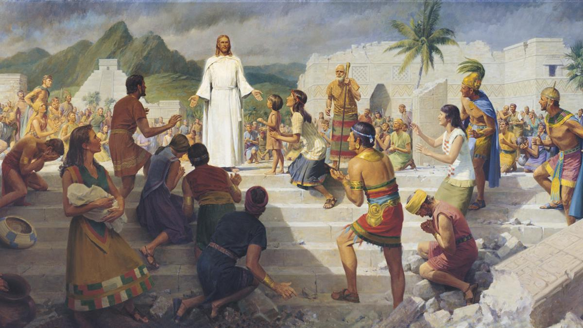 Christ teaching the Nephites