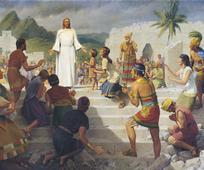 Christ visiting the nephites