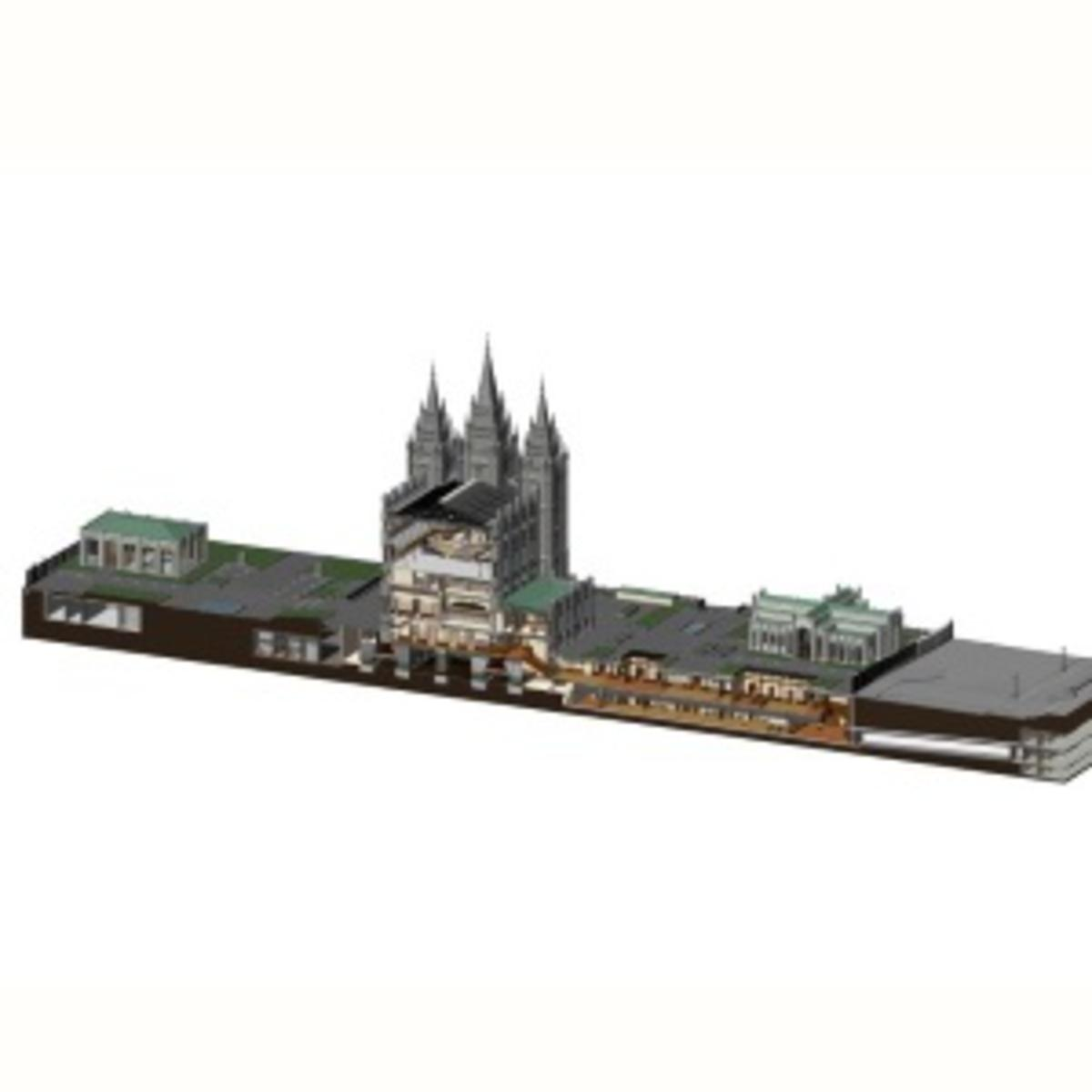 Salt Lake Temple model