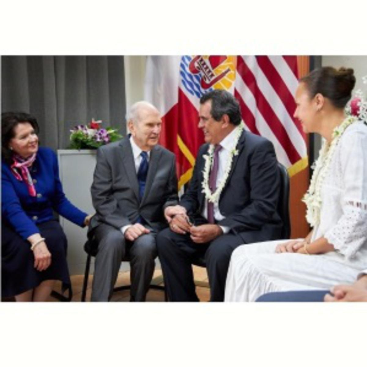 President Nelson with French Polynesian President