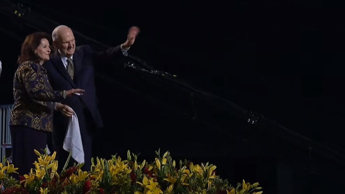 President Nelson waves