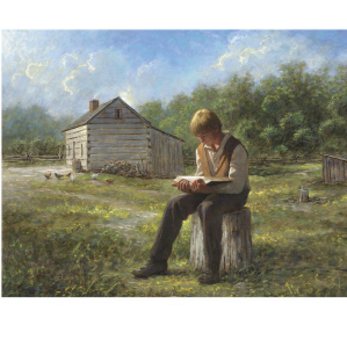 Joseph Smith reading