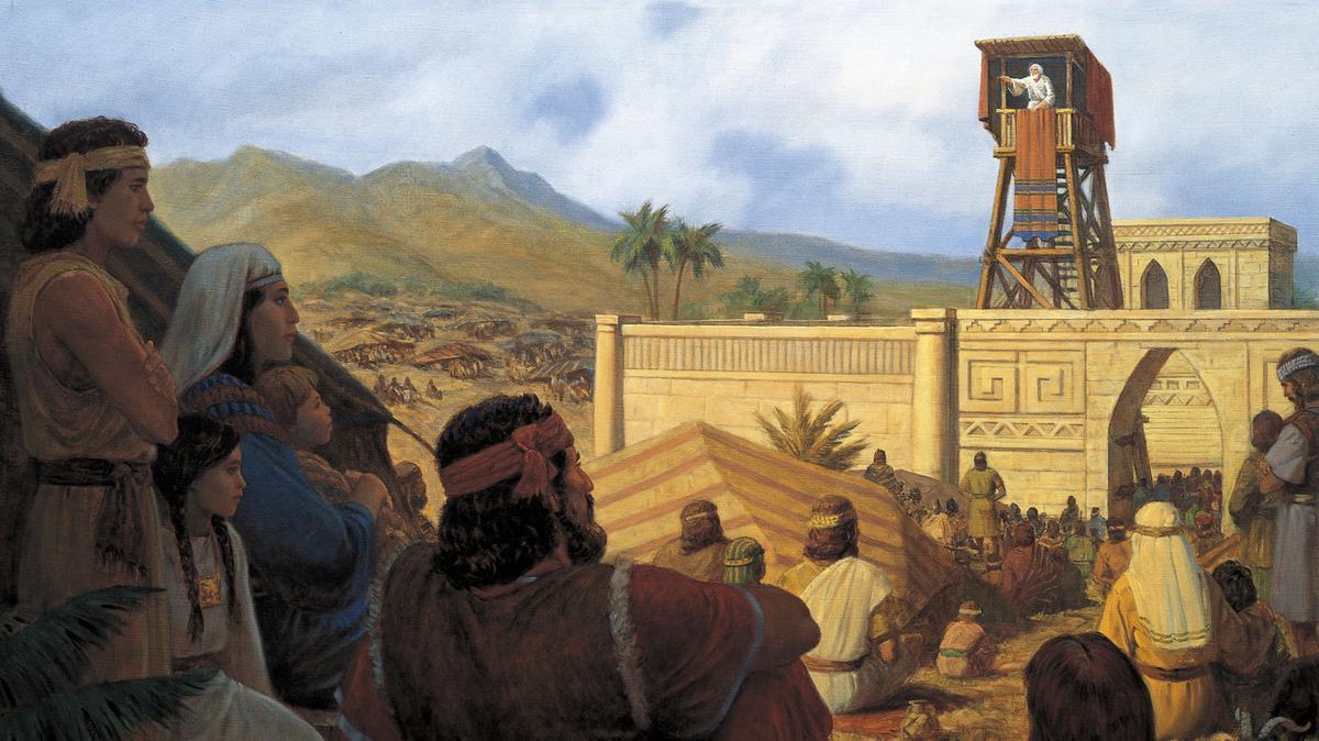 King Benjamin on tower