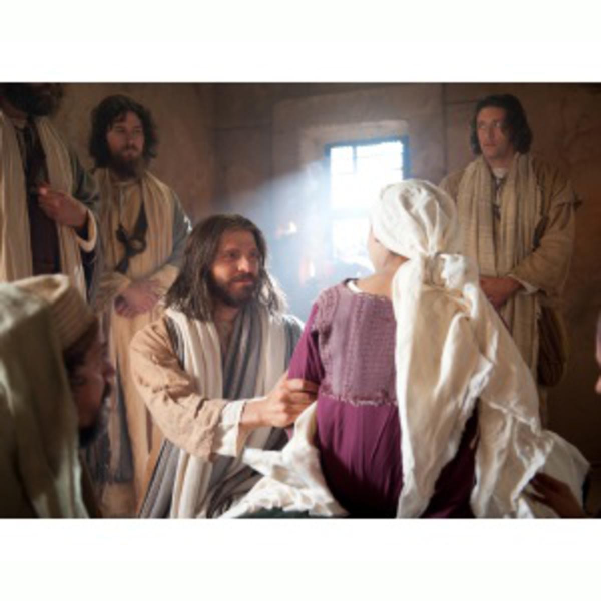 Jesus raising the dead