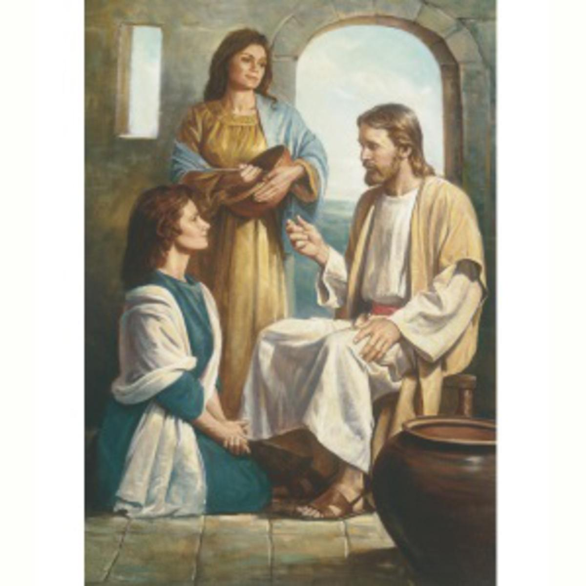 Mary and Martha with Jesus