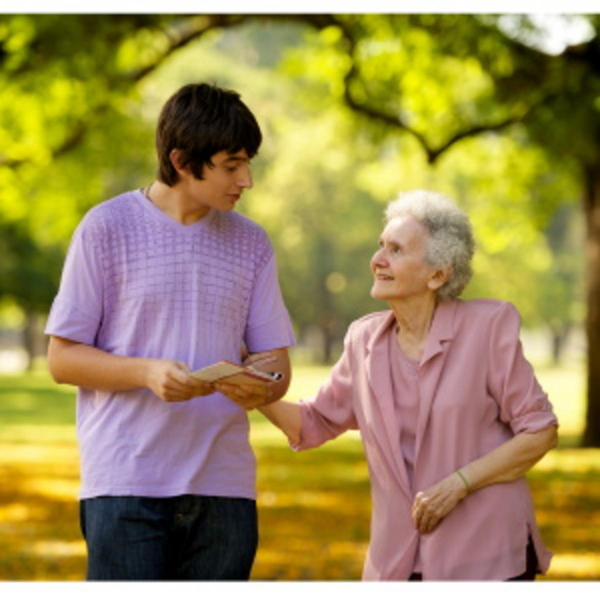 visiting elderly
