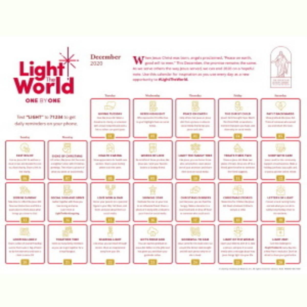 Light the World Calendar 2020